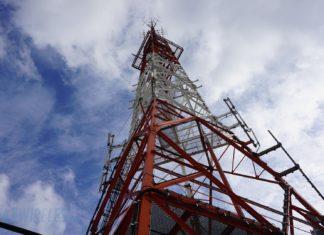 Einer der ersten Telekom 5G Funkmasten in Berlin.