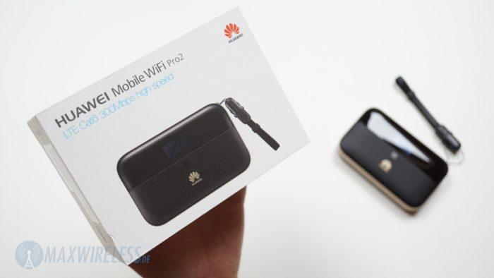 Die Verpackung des Huawei E5885.