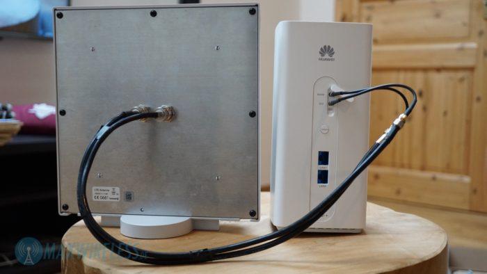 Externe LTE Antenne angeschlossen.