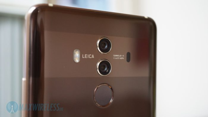 Die Leica Dual Kamera auf der Rückseite des Huawei Mate 10 Pro.
