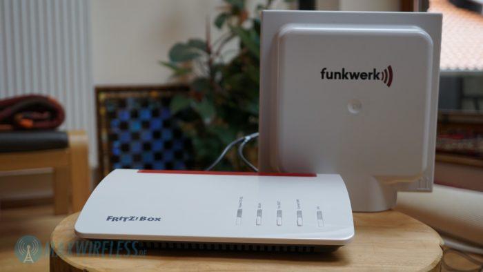 Externe LTE Antenne an der AVM FRITZ!Box 6890 LTE.