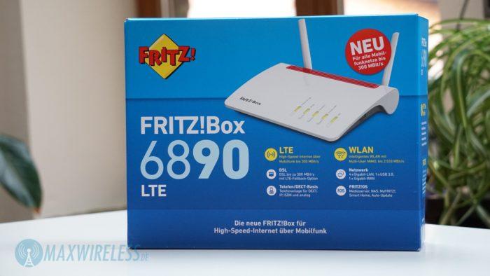 Verpackung der AVM FRITZ!Box 6890 LTE.