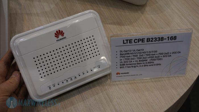 Datenblatt zum Huawei B2338 LTE Router.