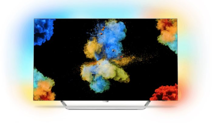 Philips OLED TV mit Amilight Technologie. Bild: Philips.