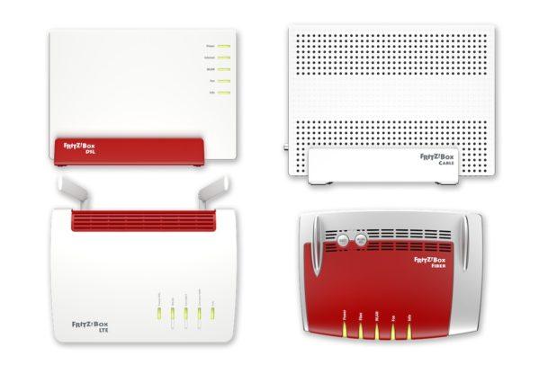 FRITZ!Box für Gigabit-Verbindungen auf dem MWC 2018. Bild: AVM.