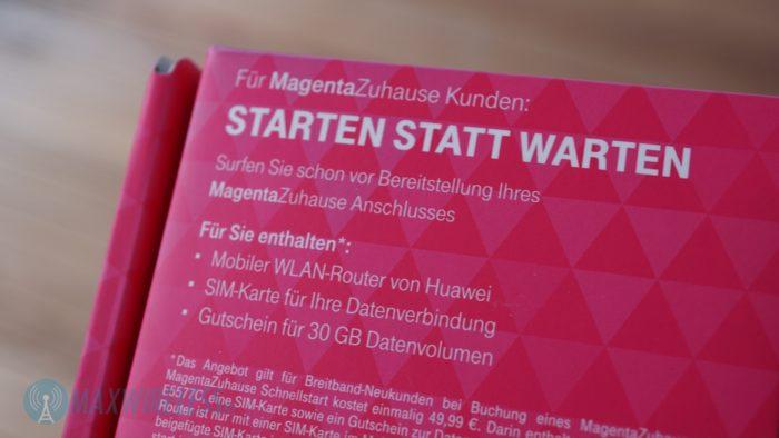 MagentaZuhause Schnellstart Lieferumfang.