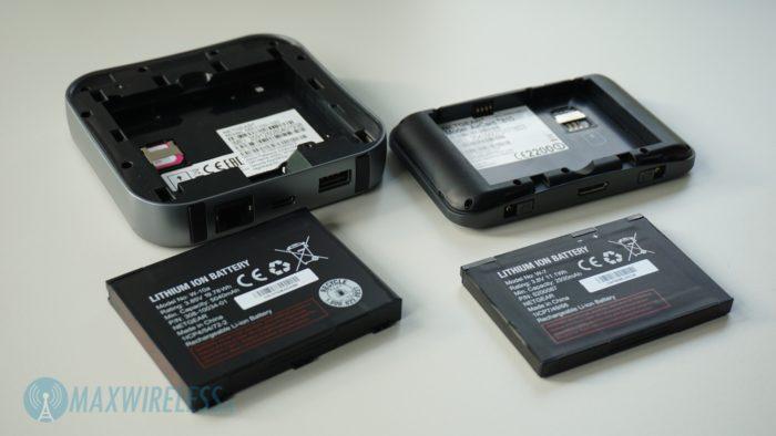 Der Netgear AirCard 810 Router und der Netgear Nighthawk M1 Router.