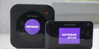 Links: Netgear Nighthawk M1 MR1100. Rechts: Netgear AirCard 810.