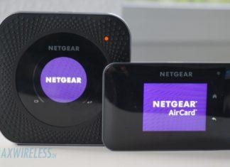 Links: Netgear Nighthawk M1 MR1100. Rechts: Netgear AirCard 810.