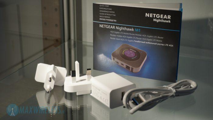 Lieferumfang des Netgear Nighthawk M1.