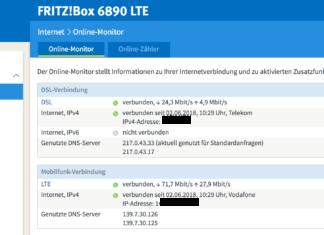 Die neue Labor-Firmware ermöglicht den Parallelbetrieb von LTE und DSL. Screenshot: maxwireless.