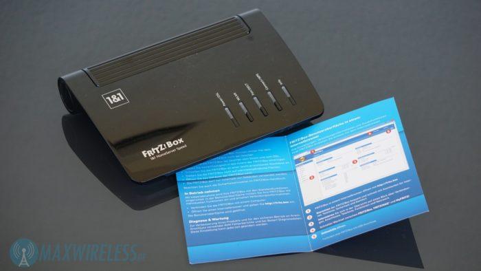 Die Kurzanleitung zum 1&1 HomeServer+ alias FRITZ!Box 7530.