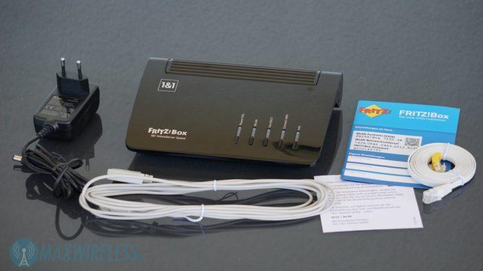 Lieferumfang der AVM FRITZ!Box 7530 / 1&1 HomeServer+.