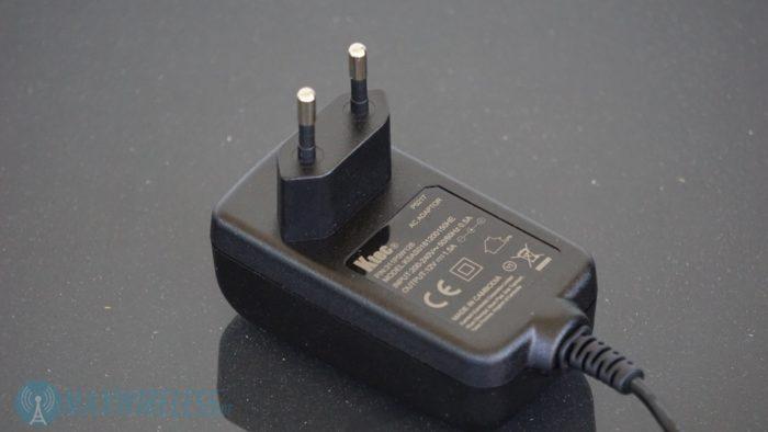 Das Netzteil (Output: 1,5A / 12V).