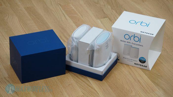 Verpackung des Netgear Orbi RBK20. Bild: maxwireless.de.