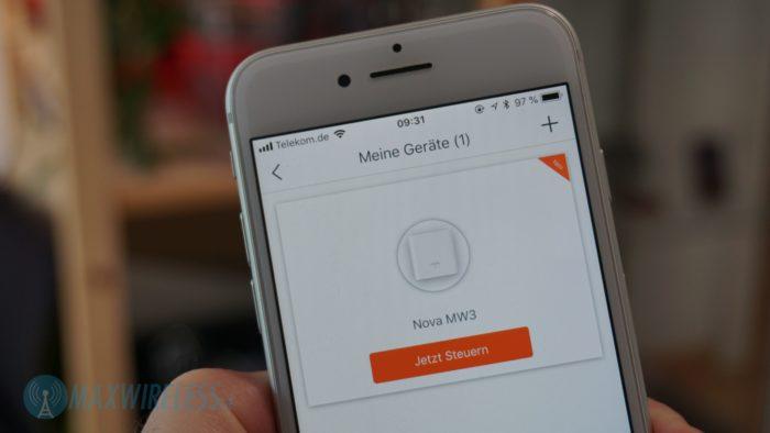 Auf Wunsch kann ein weiteres Tenda WiFi System über die App verwaltet werden.