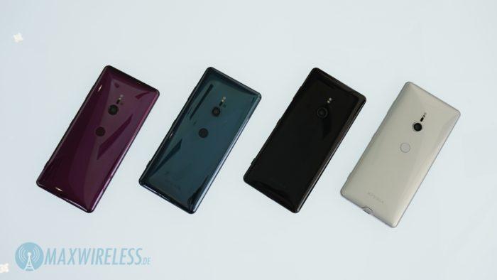 Farben des Sony Xperia XZ3.