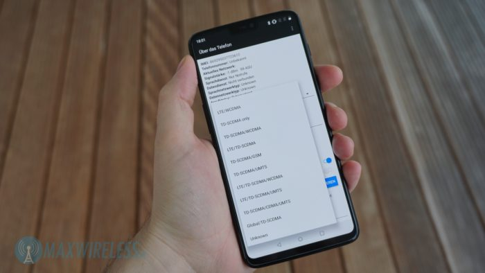 """Via Tastencode lässt sich im Android-Menü """"LTE Only"""" auswählen."""