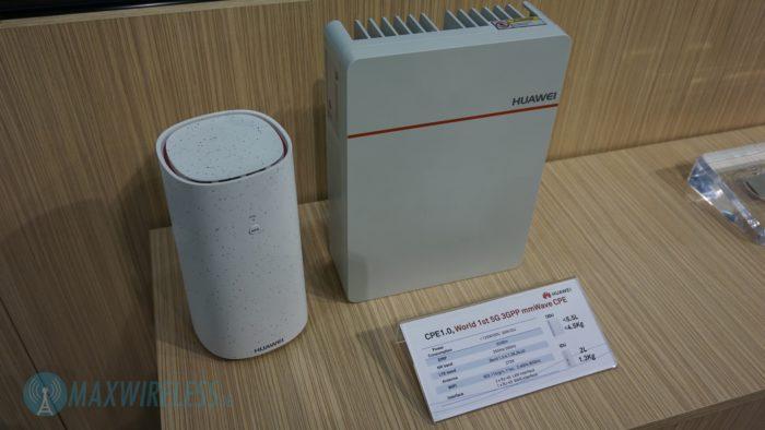 Huawei 5G mmWave CPE mit Indoor- und Outdoor-Unit. Bild: maxwireless.de.