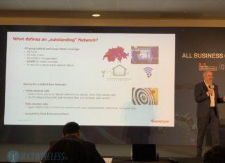 Sunrise CTO Elmar Grasser präsentiert Erfolgsfaktoren für ein gutes LTE Netzwerk. Bild: maxwireless.de.