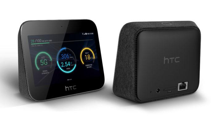 HTC Hub Rückseite mit RJ45 LAN-Anschluss. Bild: HTC.
