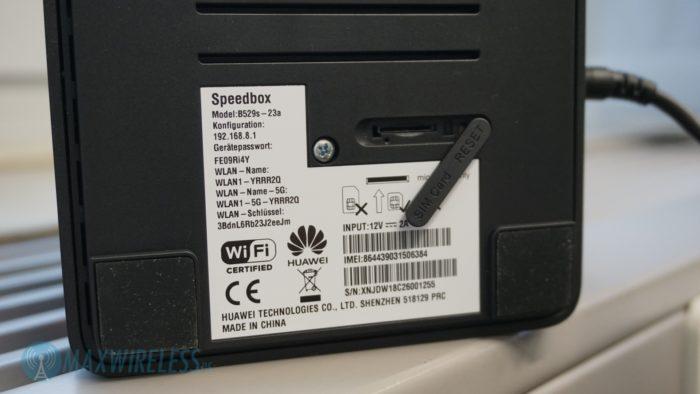 SIM-Slot des Huawei B529.