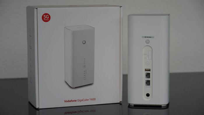 Vodafone Gigacube CAT19 mit Verpackung.
