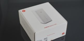 Verpackung des Vodafone Gigacube CAT19.