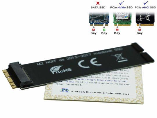 SINTECH NVMe SSD Adapter. Bild: Sintech.