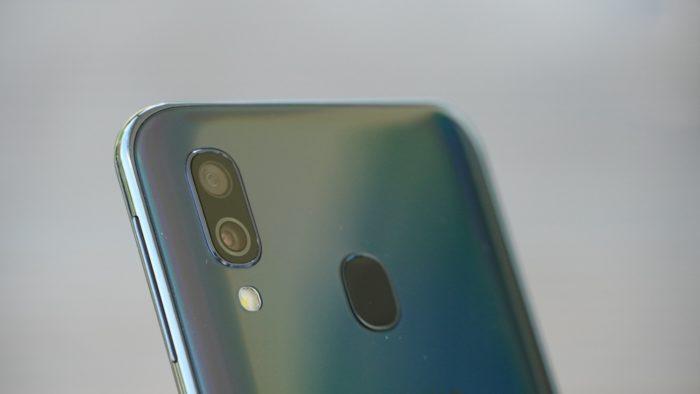 Dual-Kamera auf der Rückseite des Galaxy A40.