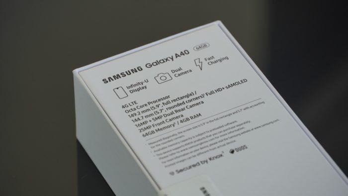 Technische Daten auf der Verpackung.
